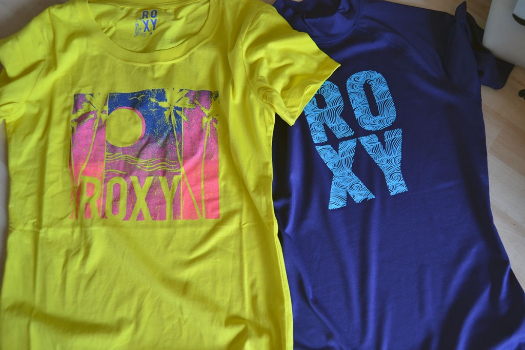 roxy rash guard and tee