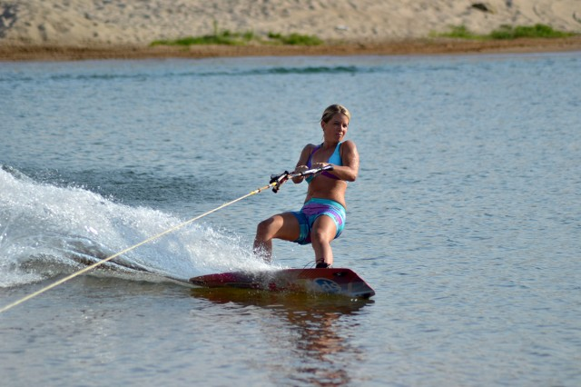 Wakeboarding action