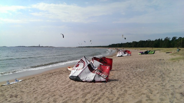 Kitesurfing interview in Hanko