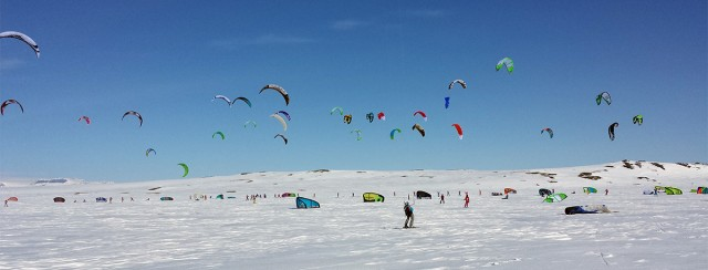 Red Bull Ragnarok snowkiting competition in Norway 2014