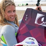 September kitesurfing with new Airush Diamond board